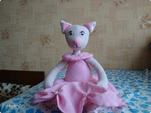 Кошечка балерина. Выкройку можно посмотреть по этой ссылке http://sunduchokruk.ru/post179046842/ фото 1