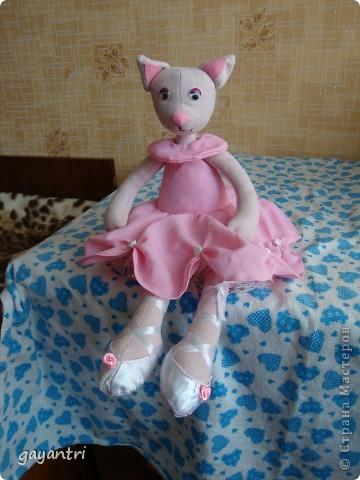 Кошечка балерина. Выкройку можно посмотреть по этой ссылке http://sunduchokruk.ru/post179046842/ фото 3