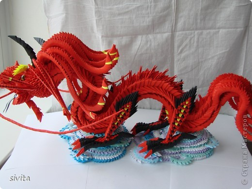 dsc07487 Модульное оригами змея горыныча - Оригамир