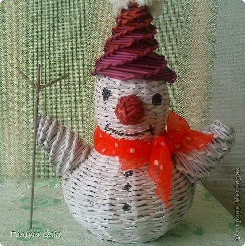Вот такой снеговичок под ёлочку получился фото 1