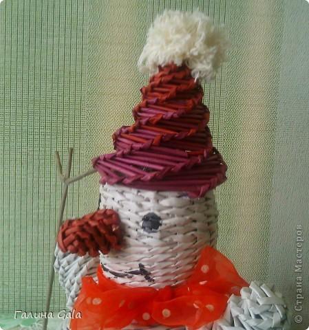 Вот такой снеговичок под ёлочку получился фото 2
