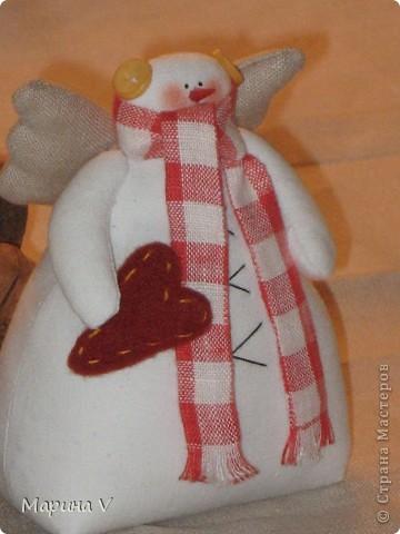 Ну вот и я начинаю готовиться к Новому году! Прошу любить и жаловать - получилась парочка влюбленных снеговичков))  Ксюша, и Анна https://stranamasterov.ru/user/123468 спасибо за выкройки и вдохновение!!! фото 8