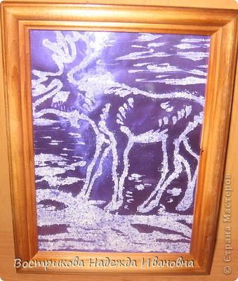 Рисование солью  сначала нужно сделать рисунок клеем ПВА на бумаге, затем засыпать всё солью, после высыхания стряхнуть лишнюю соль. фото 4