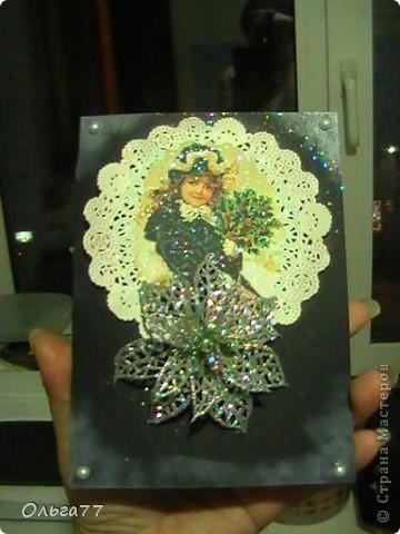 Новогодние открыточки своими руками - это так приятно! Но ещё приятней их дарить. фото 3