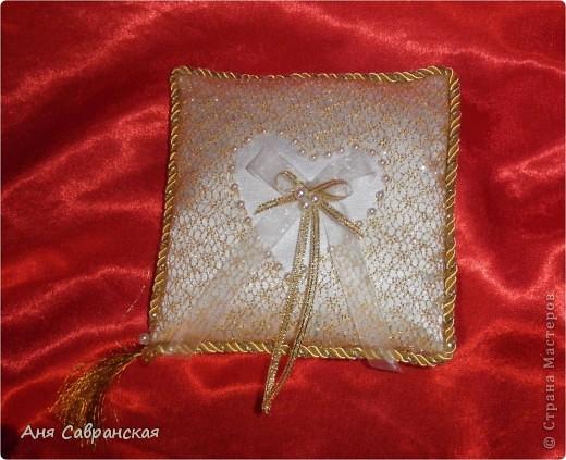 Подушечка для колец и полный свадебный набор фото 2