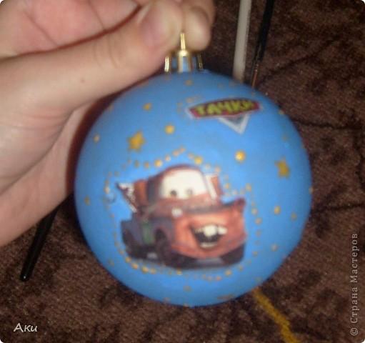 вот такой шарик получился,в подарок племяннику на НГ фото 1