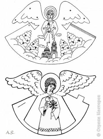 """Ангелы в небе высоком живут, Богу Всевышнему славу поют, К небу возносят молитвы людей, Сладкие грёзы детей. Господи мой, сердце открой, Дай мне услышать ангельский хор! Господи мой, сердце открой, Знаю, Ты Бог живой! Ангелов Бог посылает с небес Для возвещения Божьих чудес, Веру и радость приносят они, Вестники Божьей любви.  Ко дню Архистратига Михаила и всех небесных сил бесплотных (21 ноября) делали с ребятами в Воскресной школе такую коллективную работу. Раздавала детям рисунки Ангелов, они их раскрашивали-дорисовывали и наклеивали на """"набо"""". фото 18"""