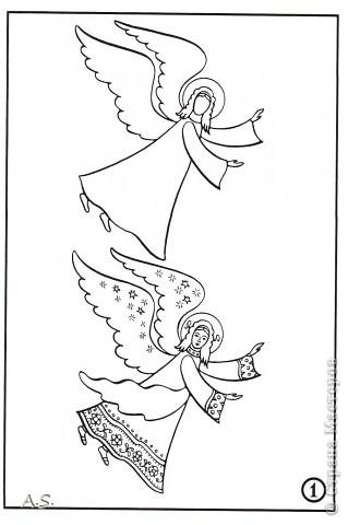 """Ангелы в небе высоком живут, Богу Всевышнему славу поют, К небу возносят молитвы людей, Сладкие грёзы детей. Господи мой, сердце открой, Дай мне услышать ангельский хор! Господи мой, сердце открой, Знаю, Ты Бог живой! Ангелов Бог посылает с небес Для возвещения Божьих чудес, Веру и радость приносят они, Вестники Божьей любви.  Ко дню Архистратига Михаила и всех небесных сил бесплотных (21 ноября) делали с ребятами в Воскресной школе такую коллективную работу. Раздавала детям рисунки Ангелов, они их раскрашивали-дорисовывали и наклеивали на """"набо"""". фото 10"""
