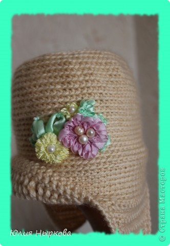 Моя первая сумка .Вязанная крючком и расшитая цветами из лент. фото 3