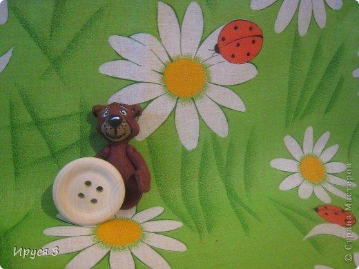 Мишутка ростом 7,5 см , сшит из льна -)))  фото 4