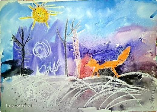 Сегодня мы нарисовали пейзаж. фото 8