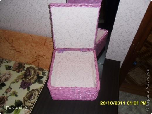 Всем,привет!Вот очередное мое плетение.Оплела коробочку,покрасила колером слива. фото 2