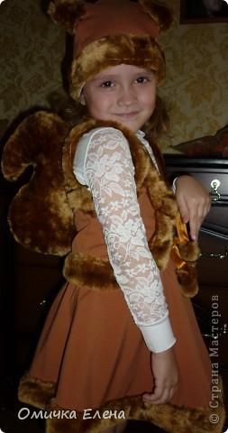 На Новый год моя дочка будет белочкой .Вот такой костюм у нас получился. фото 2