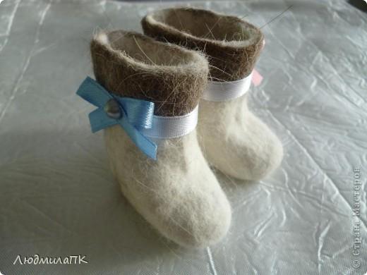 Вот такие валеночки сваляла))) фото 4