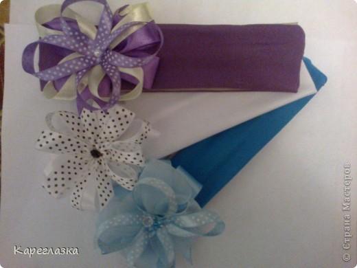 сиреневая, белая в горох и голубая фото 1