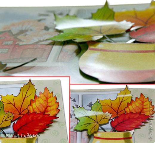 Для этих открыток я создала с помощью программ Adobe Photoshop CS4 и PhotoImpact 5 Bundled Edition шаблоны, распечатала их на плотной глянцевой бумаге, вырезала все детали, приклеила с обратной стороны кусочки двухсторонней клейкой ленты на пенной основе и отнесла в детский сад. Радости воспитателей, детей и их родителей не было предела. Малыши, в возрасте трёх лет, без помощи взрослых мастерили свои шедевры. От них требовалось только приклеить все детали на места. Двух одинаковых работ не было – все составные части (листики, розочки и ёлочные украшения) отличались по размеру, форме или по цветам. фото 2