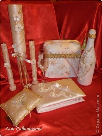 Подушечка для колец и полный свадебный набор фото 3
