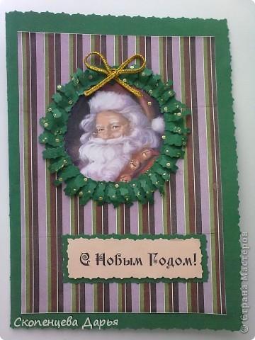 Мои первые новогодние открытки! фото 5