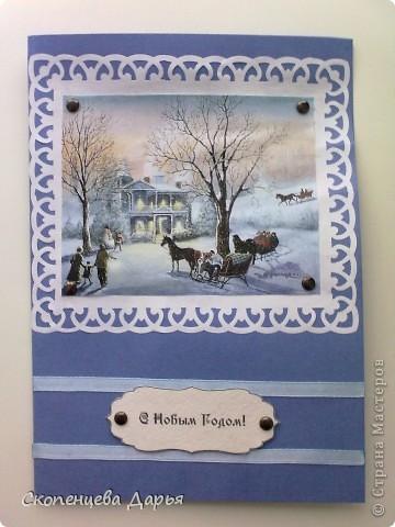 Мои первые новогодние открытки! фото 2