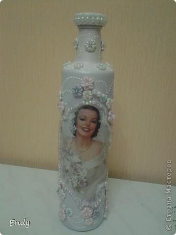 МОИ НЕВЕСТЫ.  Как и обещала, выставляю на ваш суд девочки свои новые работы. Давно была идея сделать бутылки в свадебном стиле. Вот что получилось.  фото 8