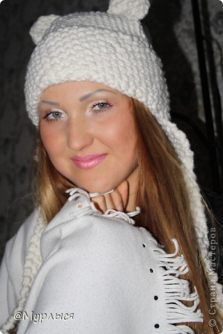 """Мои шапки """"Кошки"""" Впервые вязала, до этого только шарфики)))) фото 1"""