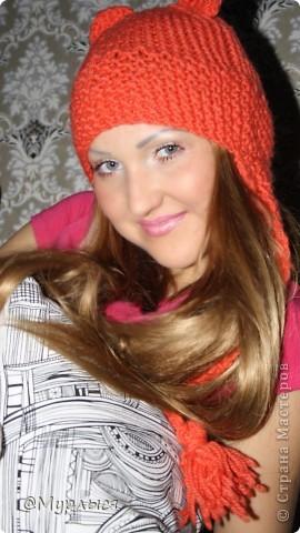 """Мои шапки """"Кошки"""" Впервые вязала, до этого только шарфики)))) фото 5"""