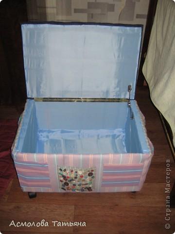 Вот такой ящик для игрушек я соорудила для своего сыночка фото 9