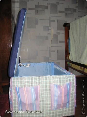 Вот такой ящик для игрушек я соорудила для своего сыночка фото 8