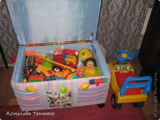 Вот такой ящик для игрушек я соорудила для своего сыночка фото 13