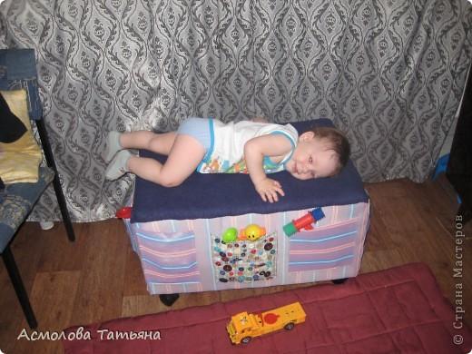 Вот такой ящик для игрушек я соорудила для своего сыночка фото 17