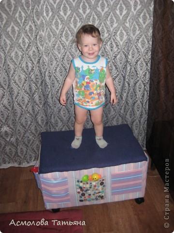 Вот такой ящик для игрушек я соорудила для своего сыночка фото 16