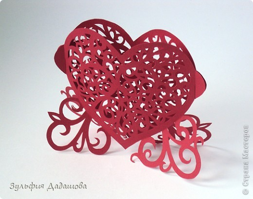 Кружевное сердечко фото 2