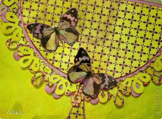 Сегодня хочу показать две новые работы, на которых фигурируют бабочки.  Открытки, как мне кажется, не совсем в моем стиле, но ведь хочется пробовать и осваивать новое... Обе делала по определенной цветовой палитре и с использованием скетчей.  фото 2