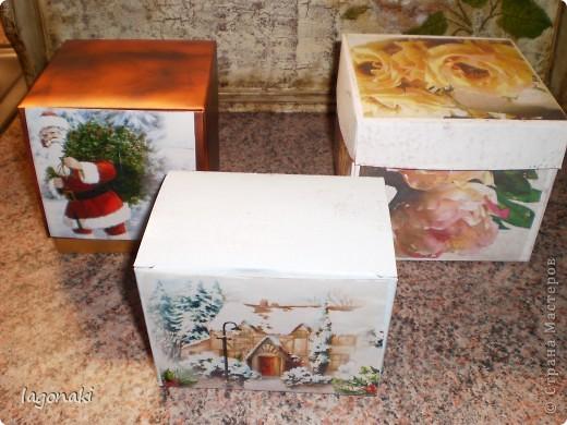 Обычные упаковки от духов,конфет и чая.Сегодня превратились в упаковочные коробочки. фото 1