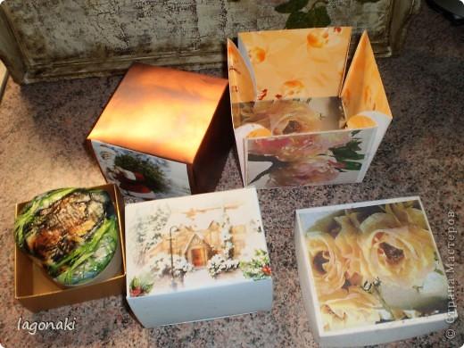 Обычные упаковки от духов,конфет и чая.Сегодня превратились в упаковочные коробочки. фото 2