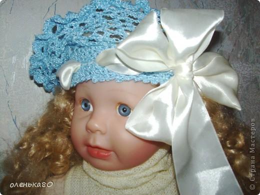 Беретик вязался для одной маленькой девочки на подарок. фото 2