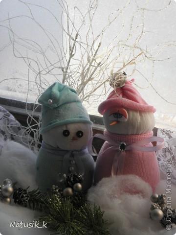 Вот и мои снеговички. фото 1
