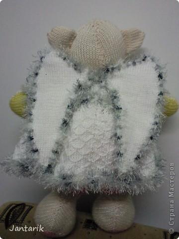 Незадолго до Нового Года народилась у меня вот такая Мишка-ангелок от Mirabilis с сайта Сатилина. Вся такая нежная,пушистая, на голове нимб,... фото 3