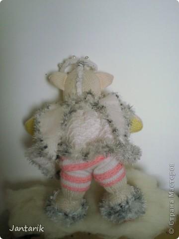 Незадолго до Нового Года народилась у меня вот такая Мишка-ангелок от Mirabilis с сайта Сатилина. Вся такая нежная,пушистая, на голове нимб,... фото 5