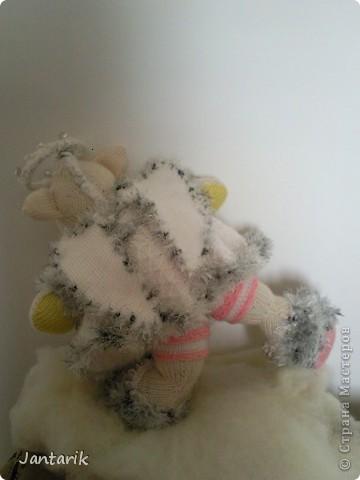 Незадолго до Нового Года народилась у меня вот такая Мишка-ангелок от Mirabilis с сайта Сатилина. Вся такая нежная,пушистая, на голове нимб,... фото 8