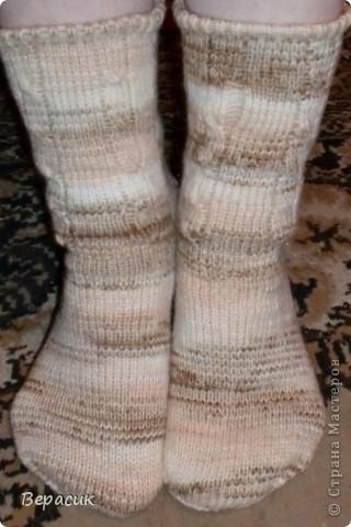 Теплые домашние носочки