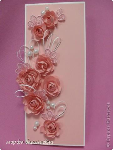 Проекция розового настроения в вертикальную плоскость открытки. фото 1