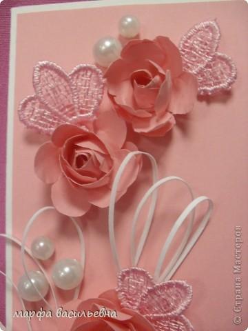 Проекция розового настроения в вертикальную плоскость открытки. фото 3