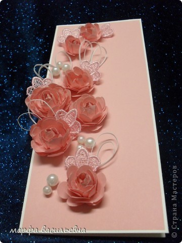 Проекция розового настроения в вертикальную плоскость открытки. фото 4