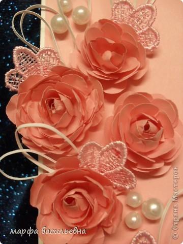 Проекция розового настроения в вертикальную плоскость открытки. фото 2