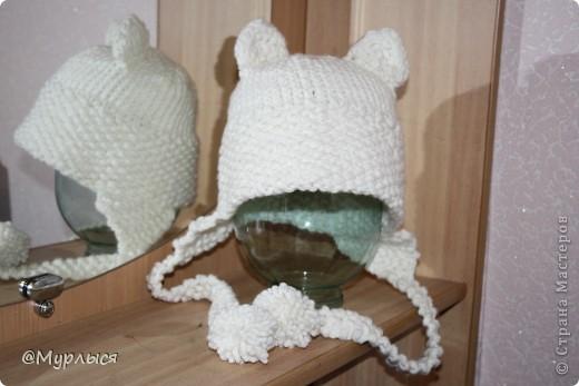 """Мои шапки """"Кошки"""" Впервые вязала, до этого только шарфики)))) фото 2"""