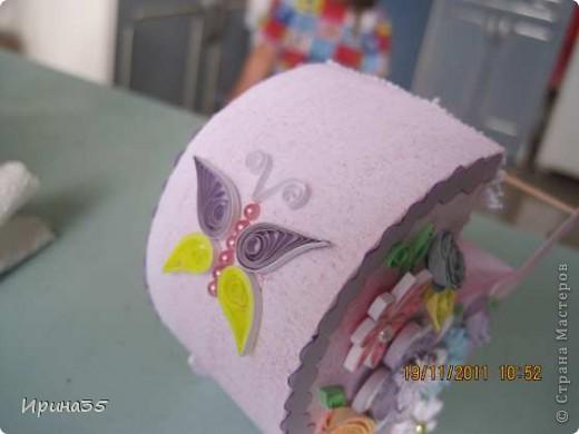 Моя кума, для которой я в свое время делала вот эту коробочку https://stranamasterov.ru/node/226310, в октябре родила девочку. Наша семья была приглашена на крестины Лизоньки. Хочу показать Вам наши подарки. фото 5