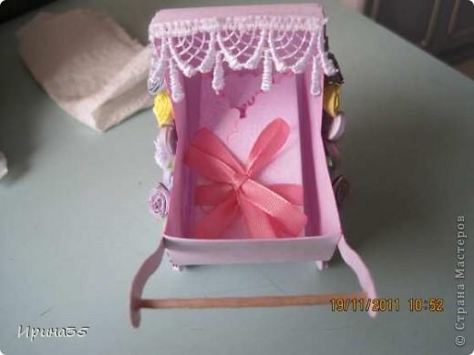 Моя кума, для которой я в свое время делала вот эту коробочку https://stranamasterov.ru/node/226310, в октябре родила девочку. Наша семья была приглашена на крестины Лизоньки. Хочу показать Вам наши подарки. фото 6