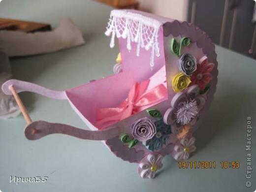 Моя кума, для которой я в свое время делала вот эту коробочку https://stranamasterov.ru/node/226310, в октябре родила девочку. Наша семья была приглашена на крестины Лизоньки. Хочу показать Вам наши подарки. фото 4