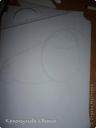 Здравствуйте! Я хочу показать вам, как рисовать голову лошади. Это очень просто!  фото 4